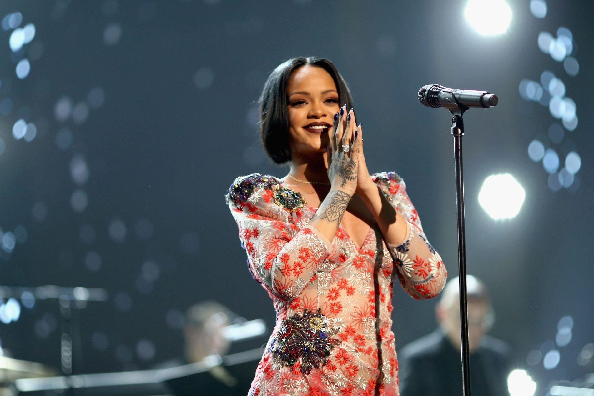 NORGESKLAR NORGESVENN: Rihanna. Foto: AFP