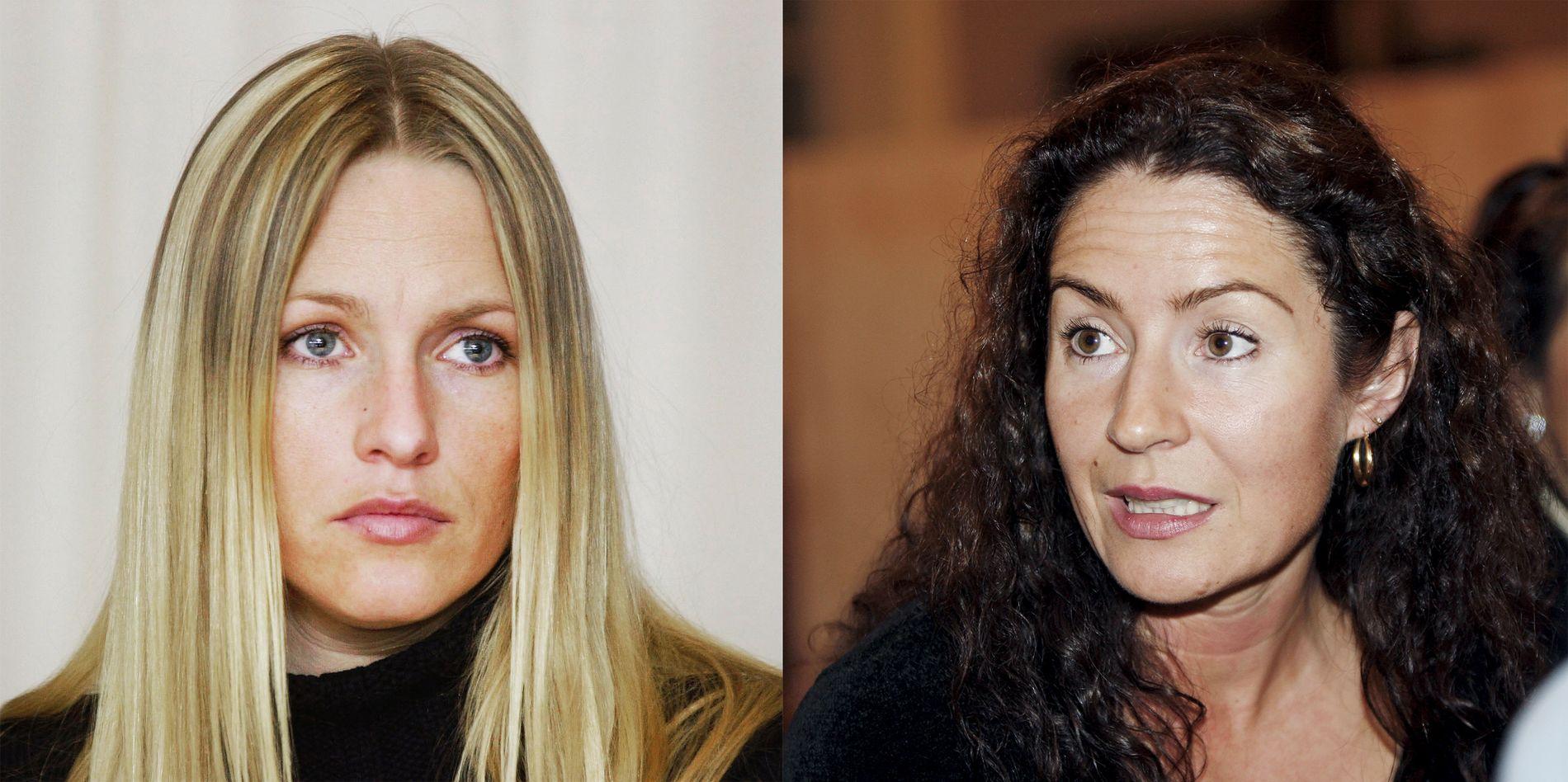 PARTENE: Kristin Kirkemo (44) og broren har saksøkt Veronica Orderud (45) og søsteren etter at deres felles mor døde i oktober i fjor.