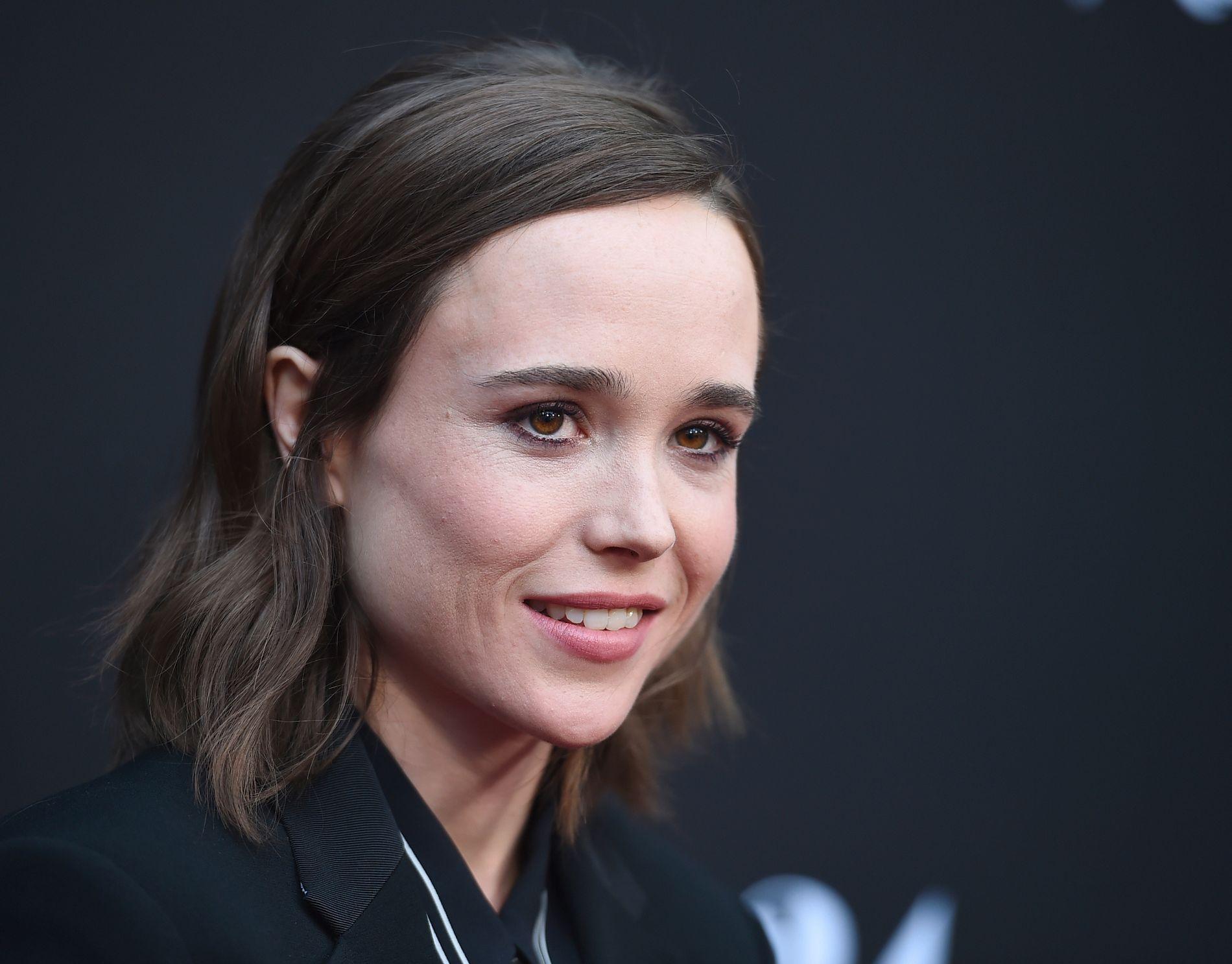 STÅR FREM: Skuespiller Ellen Page snakket offentlig om legningen sin for første gang i februar 2014. Nå anklager hun Hollywood-produsent Brett Ratner for å ha ydmyket henne for legningen sin. Foto: JORDAN STRAUSS / INVISION / AP