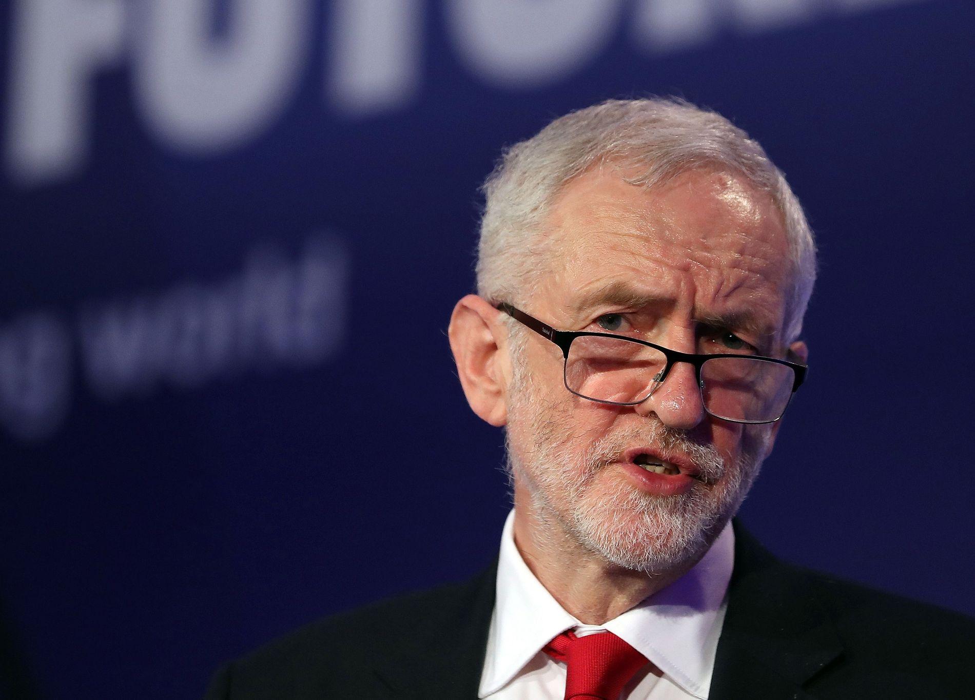 LABOUR-LEDER: Jeremy Corbyn under en tale han holdt til en britisk fagforening i midten av februar.