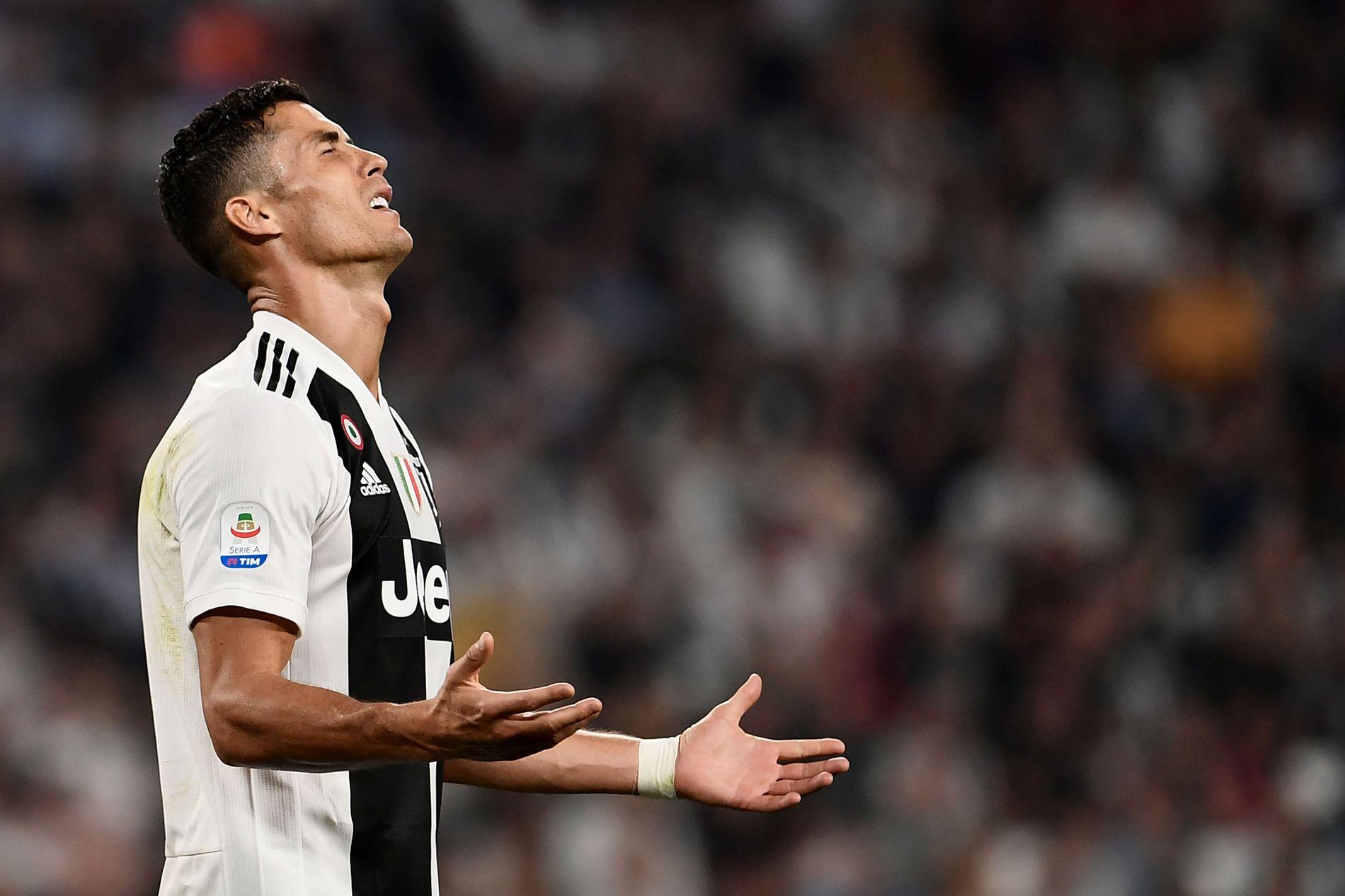 SPILLEKLAR LØRDAG: Cristiano Ronaldo, som her fortviler etter en misbrukt sjanse mot Napoli sist helg, er klar til bortemøtet mot Udinense.