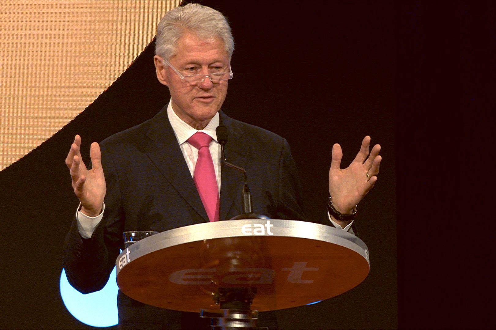 ÅPNET: USAs tidligere president Bill Clinton var det store trekkplasteret under den første EAT-konferansen i 2014.