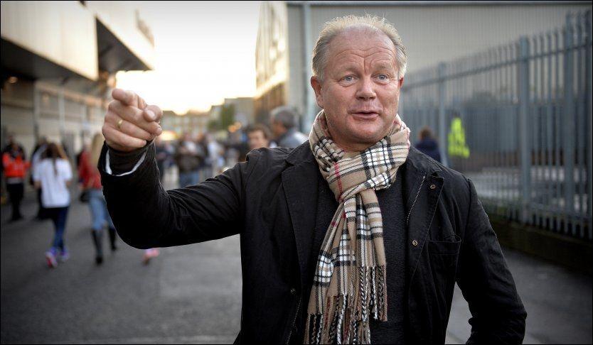 I LONDON: Per-Mathias Høgmo var i London torsdag for å se gamleklubben Tromsø mot Tottenham. Foto: BJØRN S. DELEBEKK