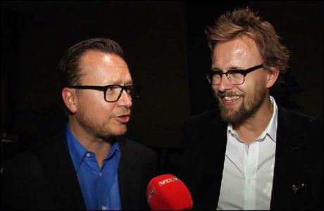 SPENTE: Regissørene Espen Sandberg (t.v.) og Joachim Rønning er på plass i Los Angeles. Foto: VGTV