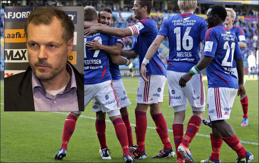 HAR TRO PÅ REKDAL: Vålerenga-spillerne ser ikke mørkt på å eventuelt få Kjetil Rekdal (innfelt) tilbake i sjefsstolen i VIF. Foto: NTB Scanpix/VG Nett montasje