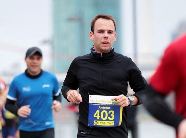 DØDSPILOTEN: Andrepiloten Andreas Lubitz, her under et løp i Tyskland.
