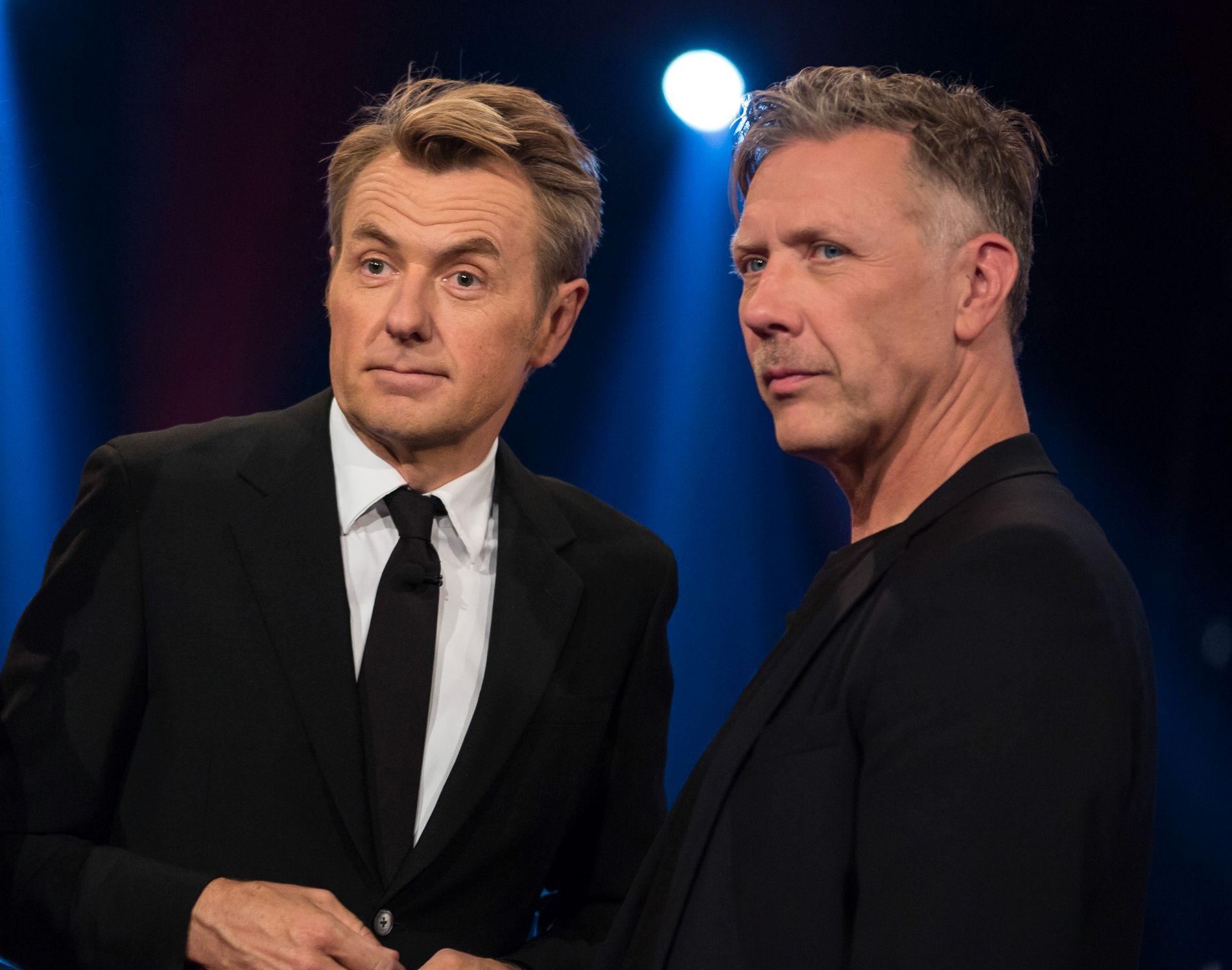 GJEST: Fredrik Skavlan inviterte samboerens ekskjæreste i TV-studio igjen. Her fra sesongpremieren på TV 2 i kveld.