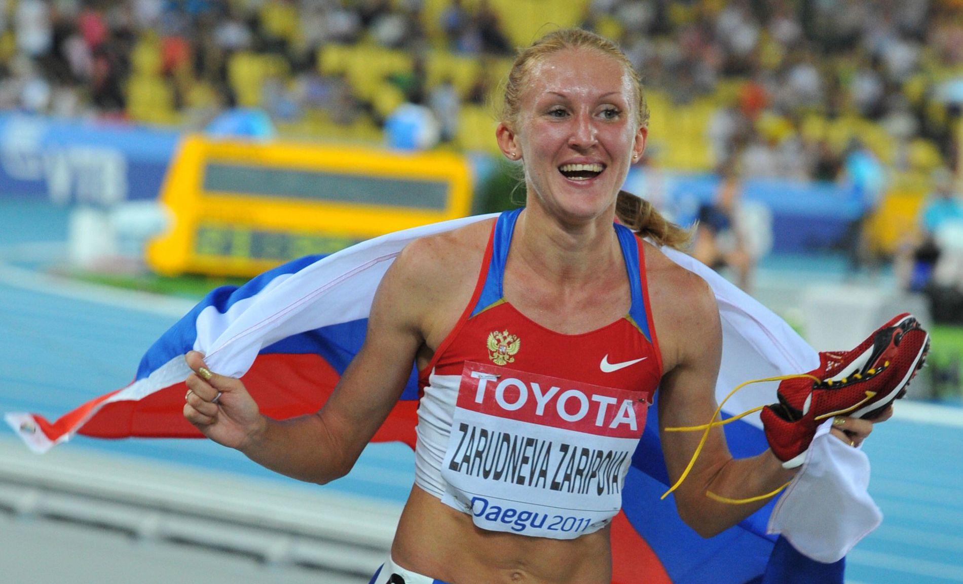 AVSLØRT: Gullvinneren på 3000 meter hinder i London-OL, Julia Zaripova, er blant de mange russiske utøverne som er avslørt når IOC har testet på nytt dopingprøver fra lekene i 2008 og 2012.