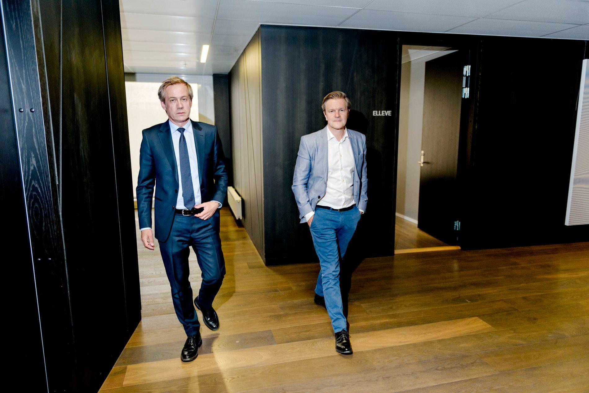 SAKSØKER STATEN: Advokat Morten Goller (t.v) i advokatfirmaet Wiersholm og talsperson for Swedish Match (t.h), Patrik Hildingsson, vil unnta snus fra den nye «Plain Pack»-loven.