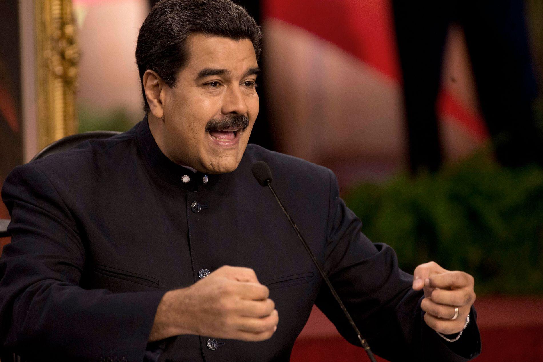 LANDSFORRÆDERI: Venezuelas president Nicolas Maduros omstridte grunnlovsgivende forsamling åpner for å stille opposisjonsledere for riksrett for landsforræderi.