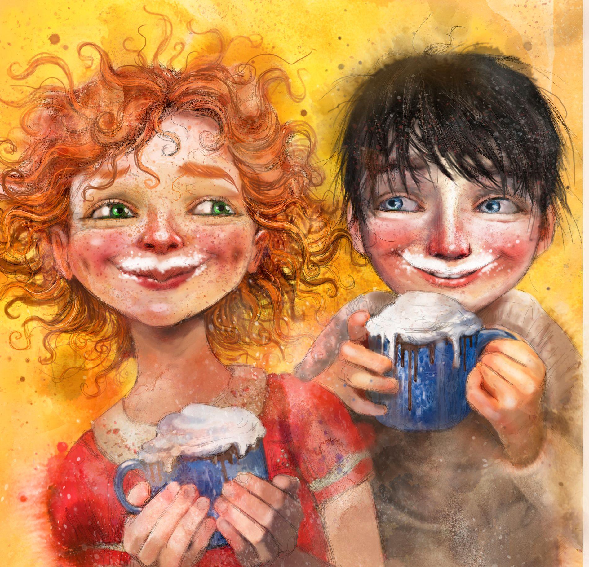 LYS OG MØRKE: Boken«Snøsøsteren»handler om Julian som har bursdag på julaften og derfor alltid har hatt det som sin favorittdag. Men nå er det annerledes, for i sommer døde storesøsteren hans – og midt oppe i den store sorgen er han redd for at julen i år er avlyst. Men så møter han juleelskeren Hedvig.