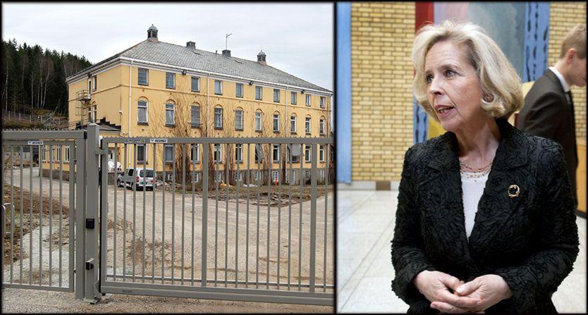 VURDERER ENDRINGER: Helseminister Anne-Grete Strøm-Erichsen sier hun vil se på deler av regelverket rundt tvungent psykisk helsevern. Til venstre ligger sikkerhetsavdelingen ved Dikemark sykehus. Foto: Trond Solberg og Espen Braata