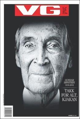 FAKSIMILE: Les mer om Gunnar Sønsteby i dagens papirutgave av VG OG VG+.