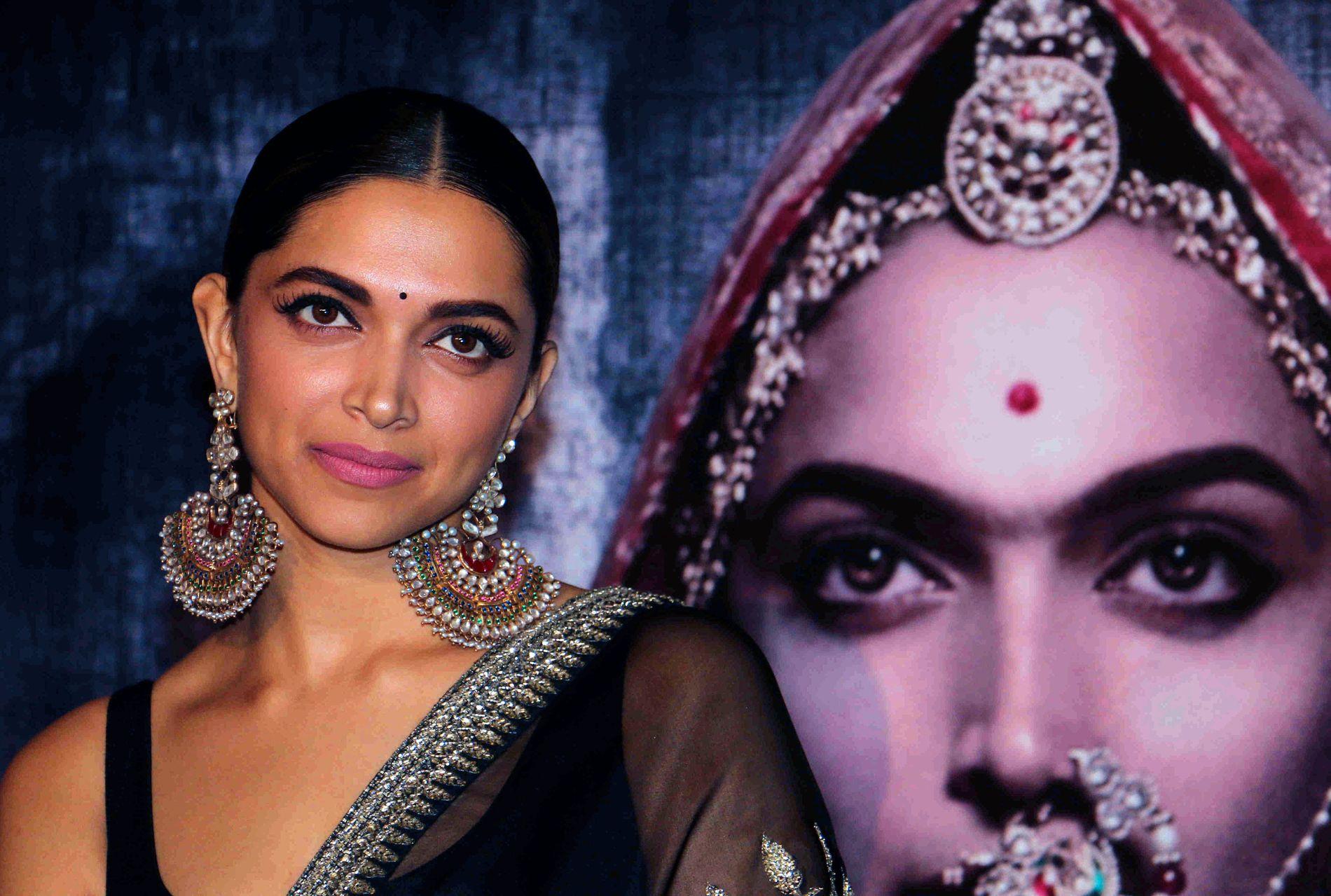 TRUES: Bollywood-stjernen Deepika Padukone har blitt truet med både halshugging og å få nesen kappet av, etter at hun tok rollen som en hinduistisk dronning som har et forhold med en muslimsk konge.