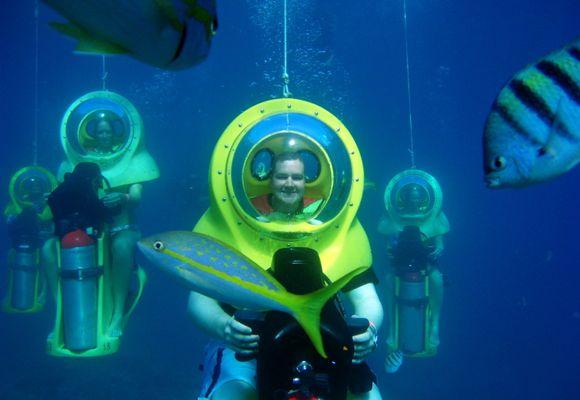 Her kan du kjøre scooter under vann