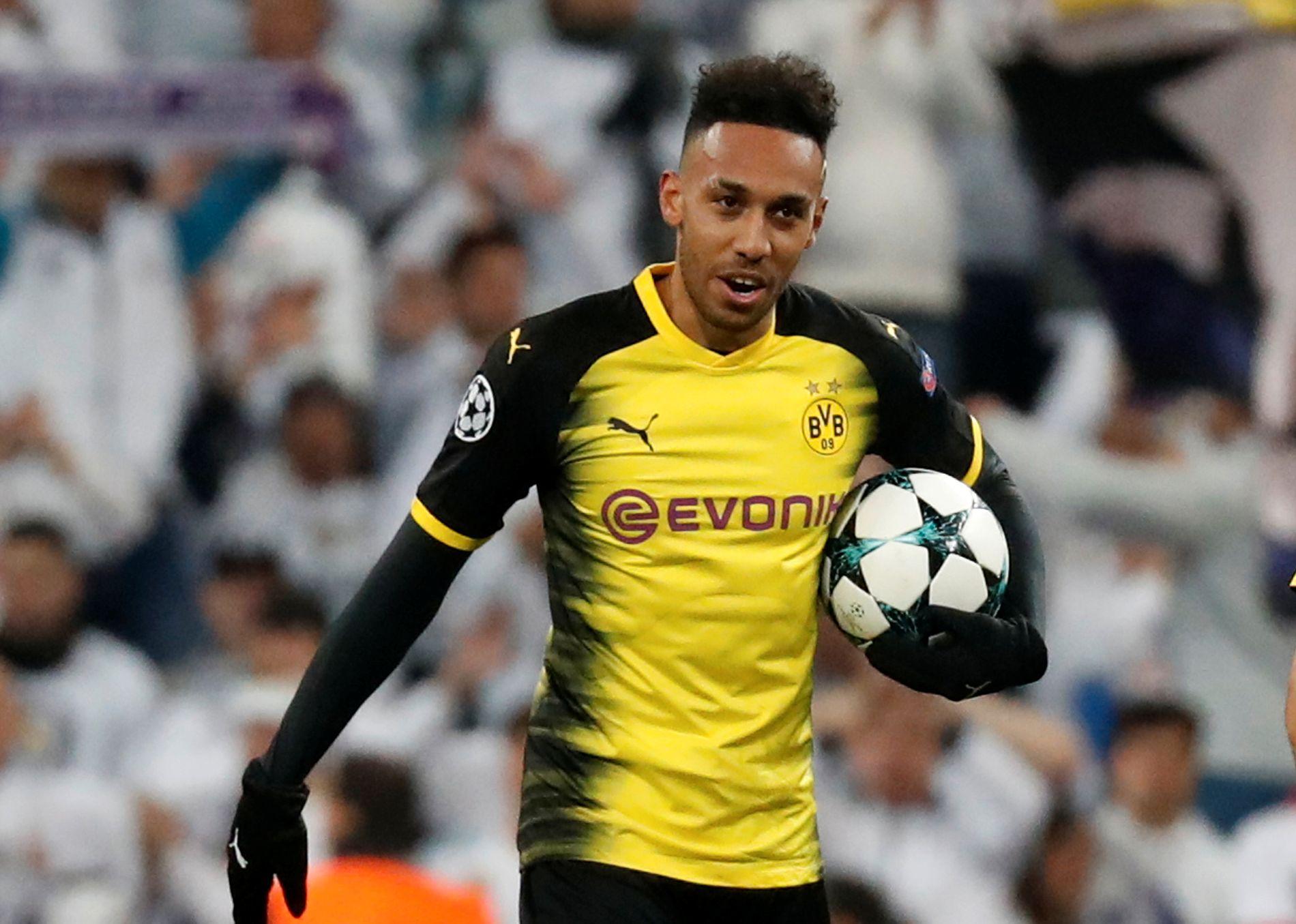 PÅ VEI TIL LONDON: Pierre-Emerick Aubameyang skal bytte ut Dortmund-gult med Arsenal-rødt.