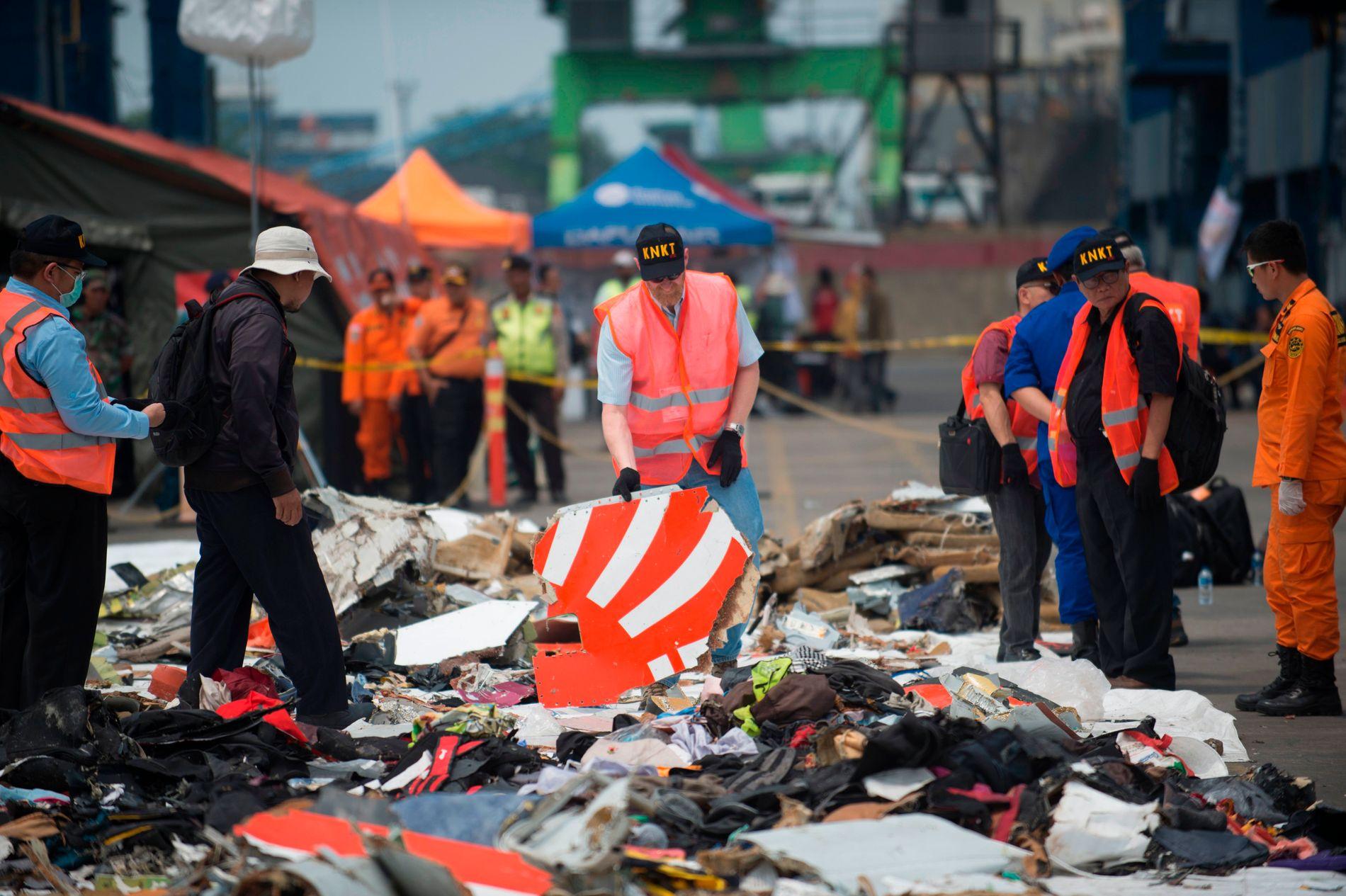 STYRTET: Et Boeing 737 MAX 8-fly styrtet i havet utenfor Indonesia så sendt som i oktober i fjor. 189 mennesker mistet livet.