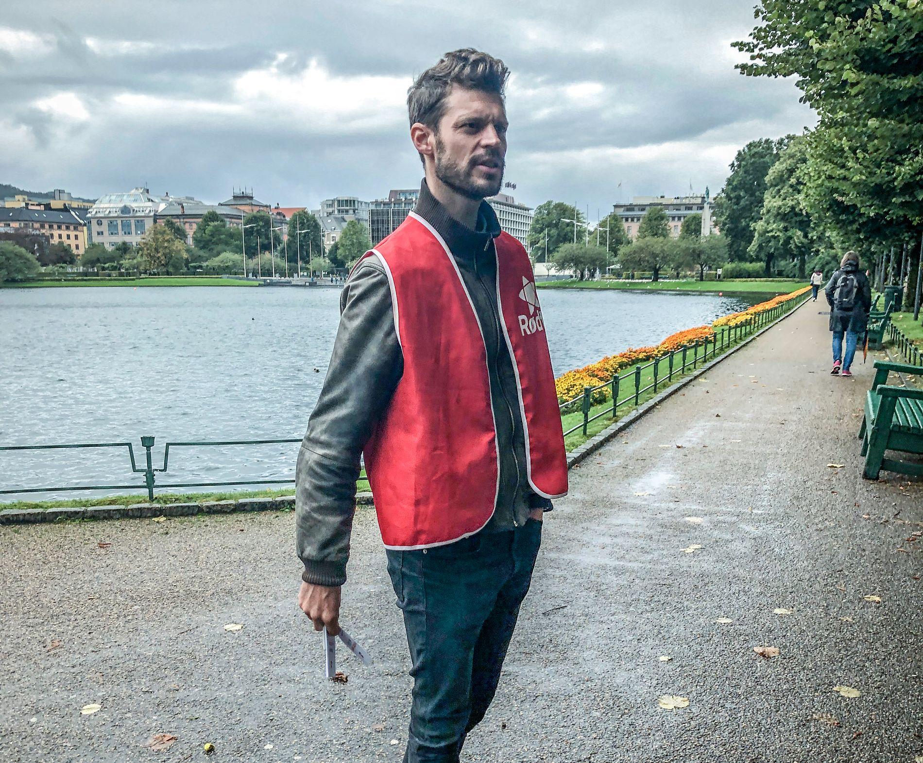 I BERGEN: Rødt-leder Bjørnar Moxnes.