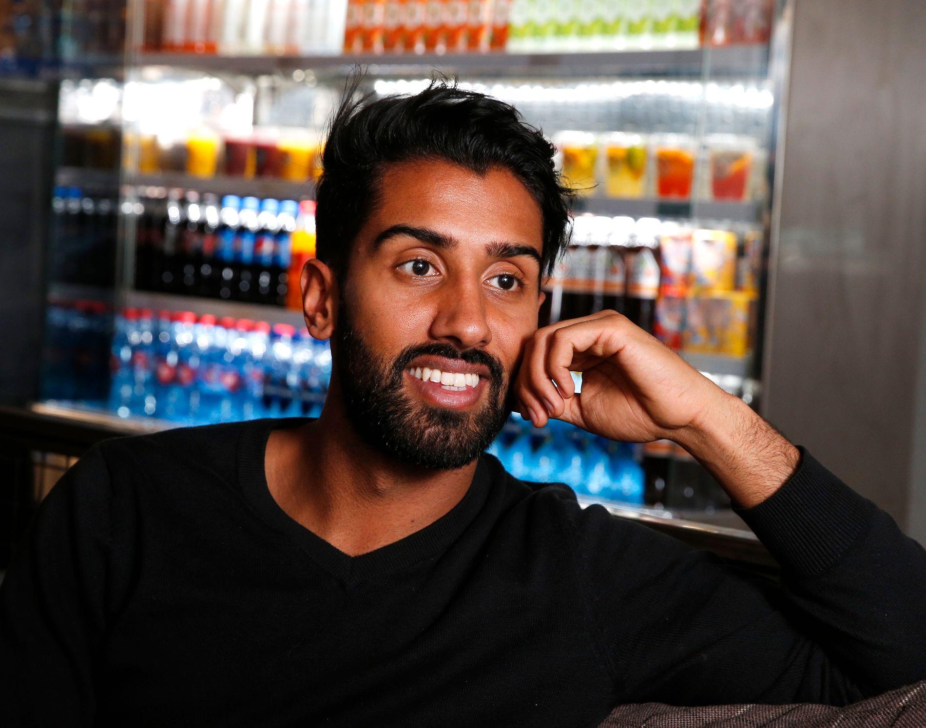 PLUTSELIG TV-KJENDIS: VG møtte Ali Ahmad i Oslo.
