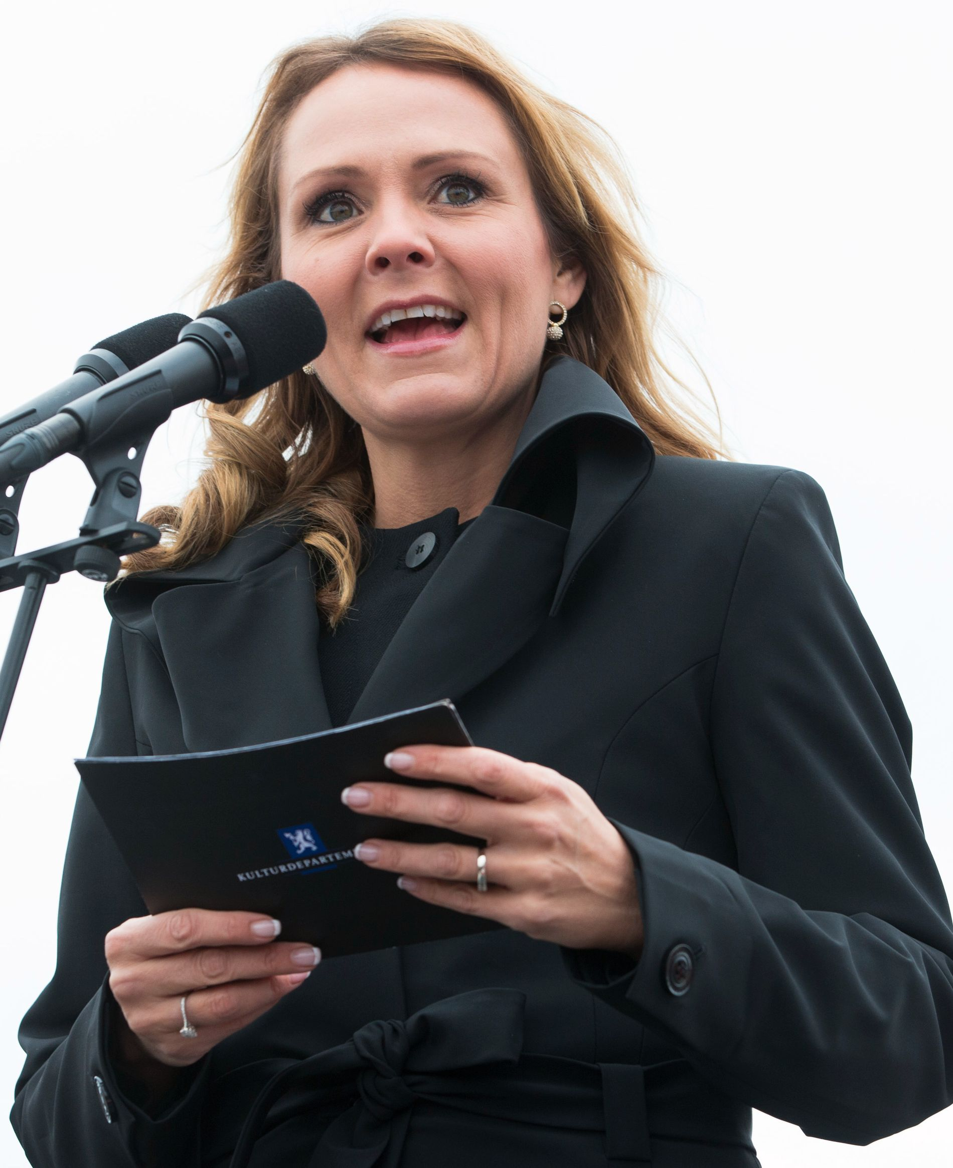 KRITISERER RØSTE:  Kulturminister Linda Hofstad Helleland, her fra en tilstelning i Bjørvika i Oslo nylig.