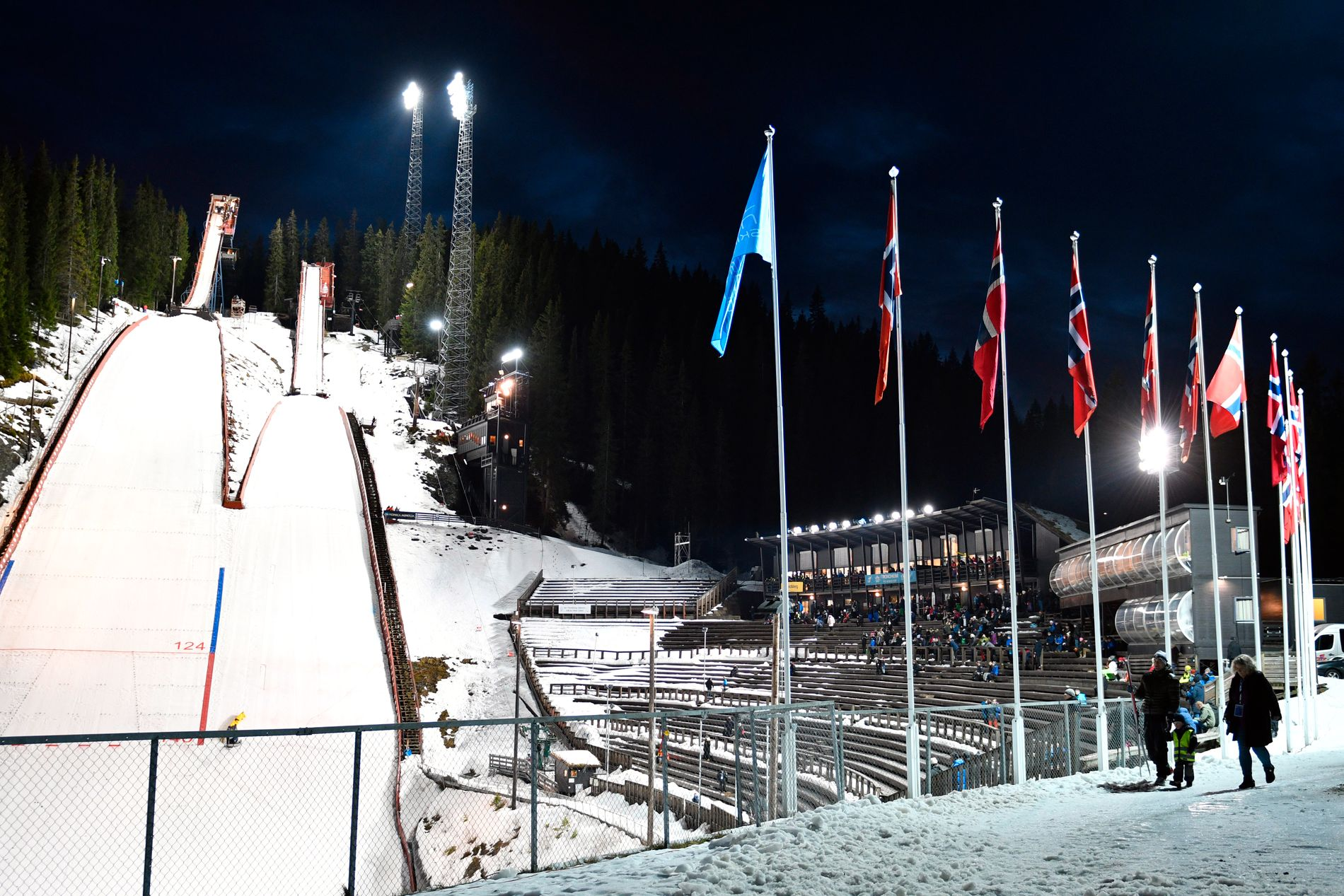 GRANÅSEN: Et eventuelt VM på ski i Trondheim vil gå i et oppjustert Granåsen. Bildet er fra NM i 2017.