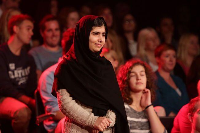 FREDSPRISVINNER: Malala Yousafzai ble hedret for sin kamp mot undertrykkelse av barn og ungdom.