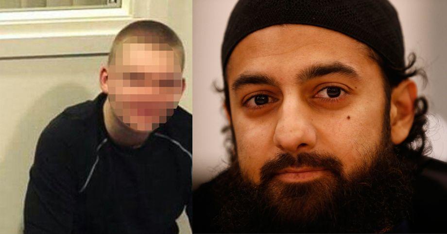 TILTALT: Den 19 år gamle konvertitten fra Oslo og Ubaydullah Hussain (31) til høyre. 19-åringen er tiltalt for forsøk på deltakelse i IS, mens Hussain er tiltalt for å ha rekruttert ham.