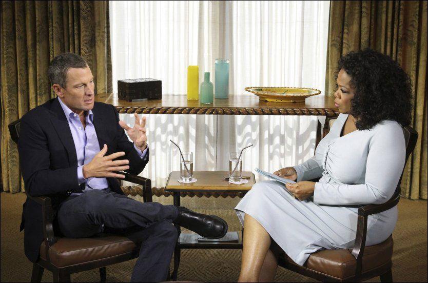 HER INNRØMMER HAN JUKSET: Lance Armstrong følte ikke at han gjorde noe galt da han dopet seg fra midten av 90-tallet. Foto: AP