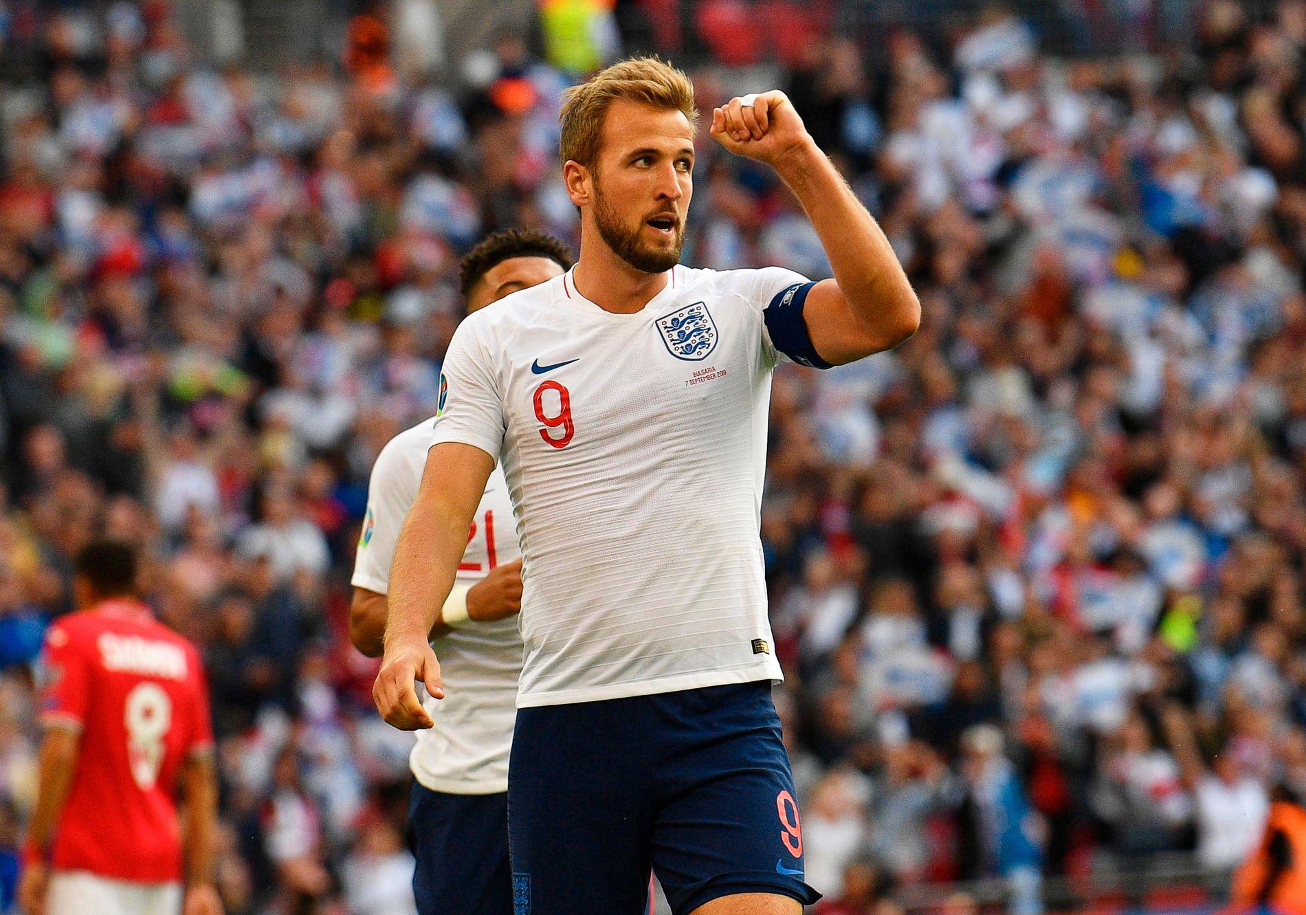 STORSCORER: Harry Kane kan bli tidenes mestscorende England-spiller om han fortsetter i samme tempo som nå.