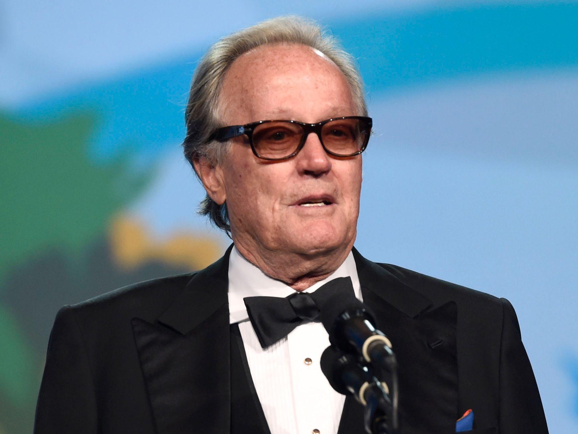 I TRØBBEL: Filmlegenden Peter Fonda. Her fra en filmfestival i Palm Springs i California.