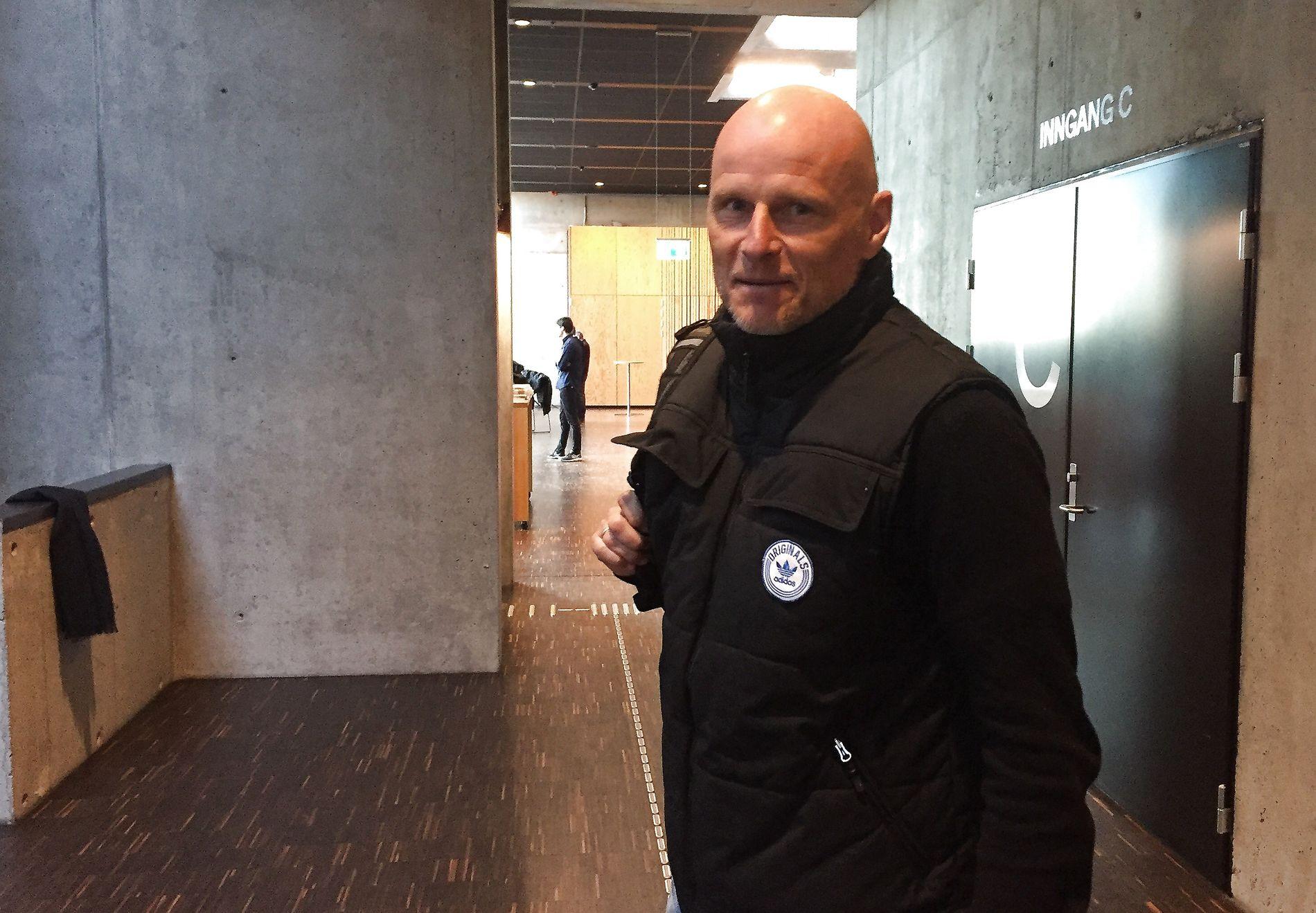 I NORGE: Ståle Solbakken holdt i dag et foredrag i forbindelse med Idrettsgallaen på Hamar. Foto: Joachim Baardsen/VG