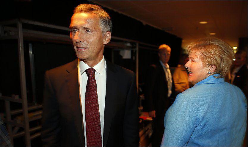 JEVNSTORE: Jens Stoltenberg og Erna Solberg ligger nå helt jevnt i kampen om å være den mest populære statsministerkandidaten. Foto: Hallgeir Vågenes