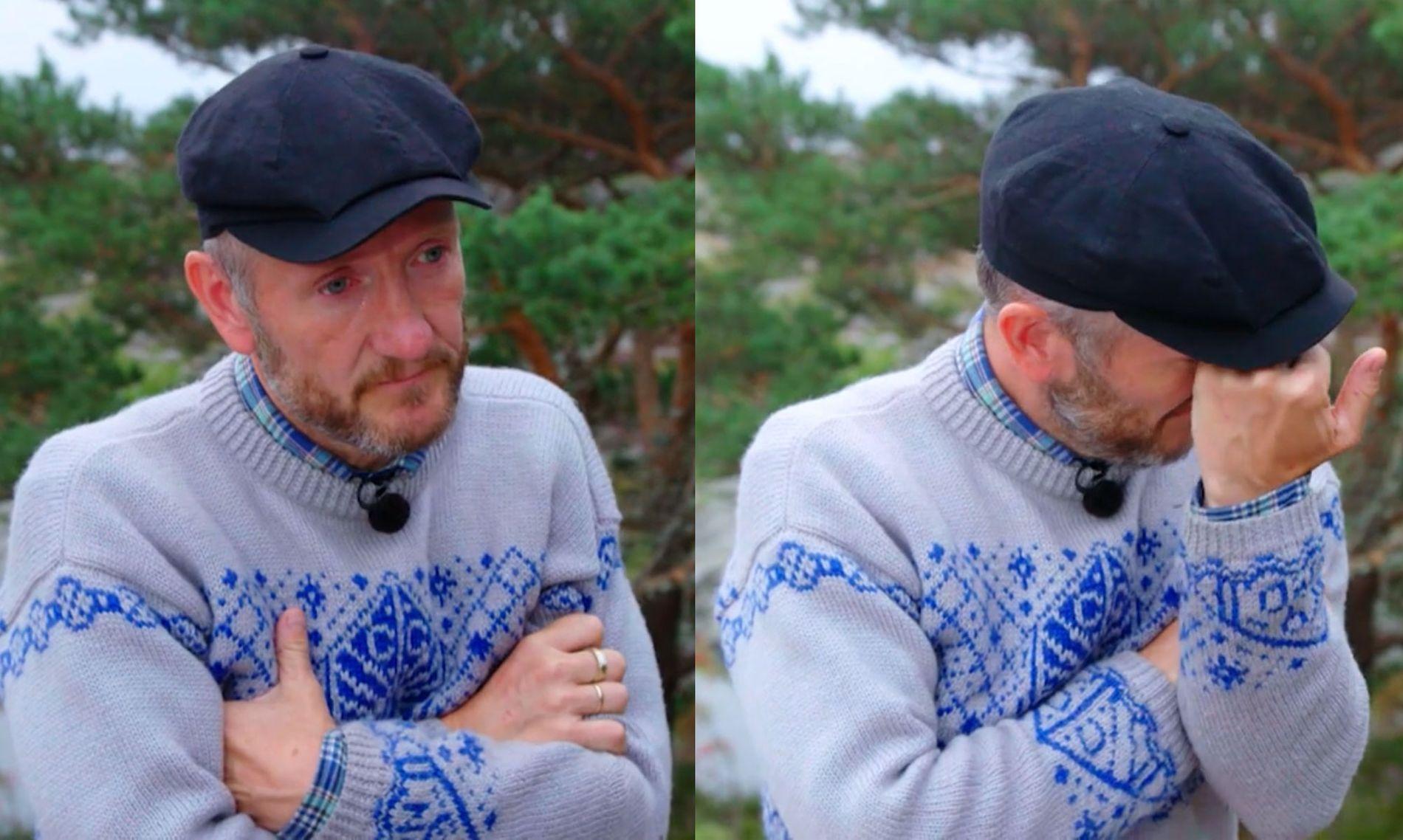 GRÅT: Geir Magne brast ut i tårer etter at han hadde vunnet øksekampen.