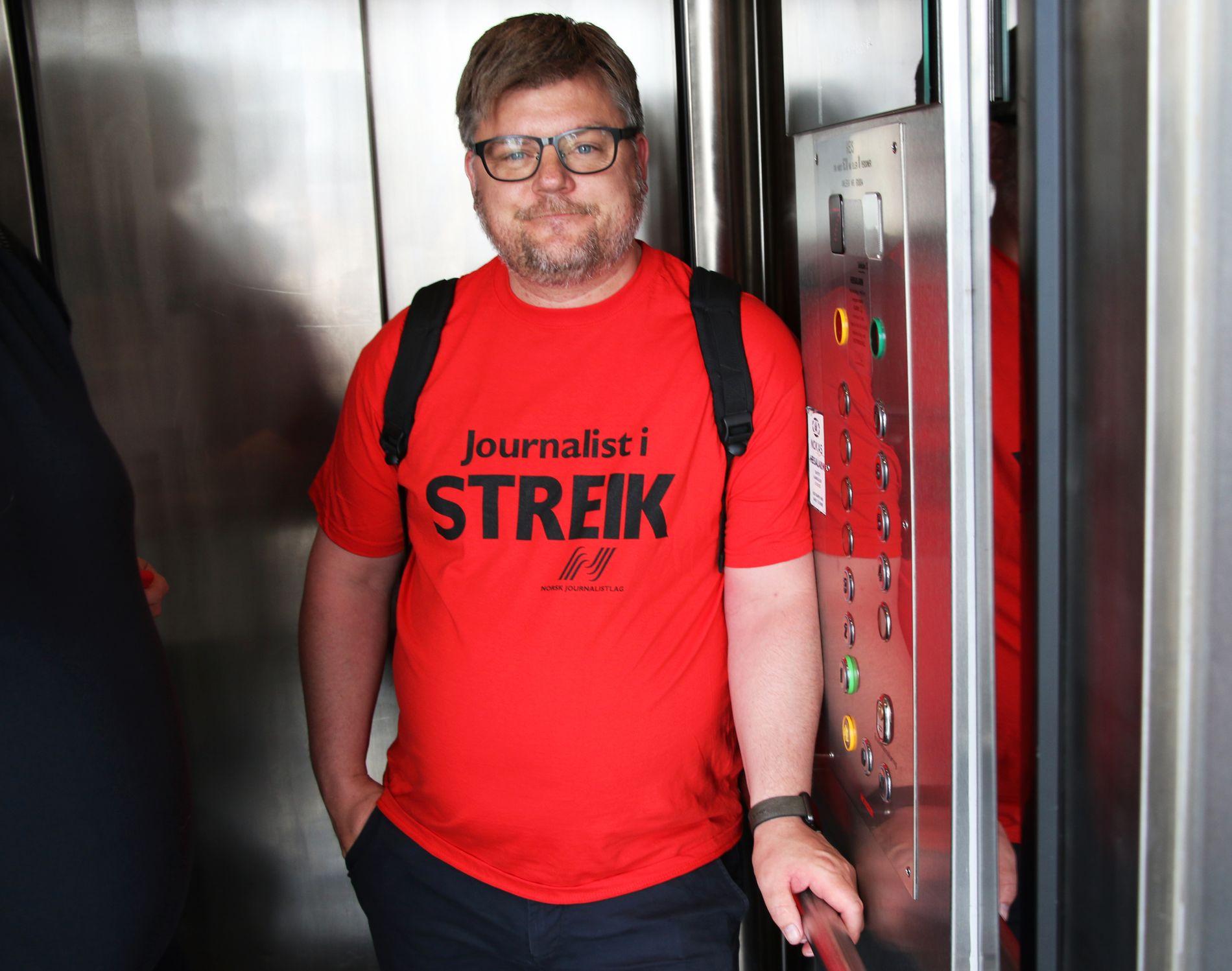 FOLK ER PROVOSERT: Leder for Norsk Journalistlag i NRK, Richard Aune, anklager arbeidsgiveren for å bedrive streikebryteri.
