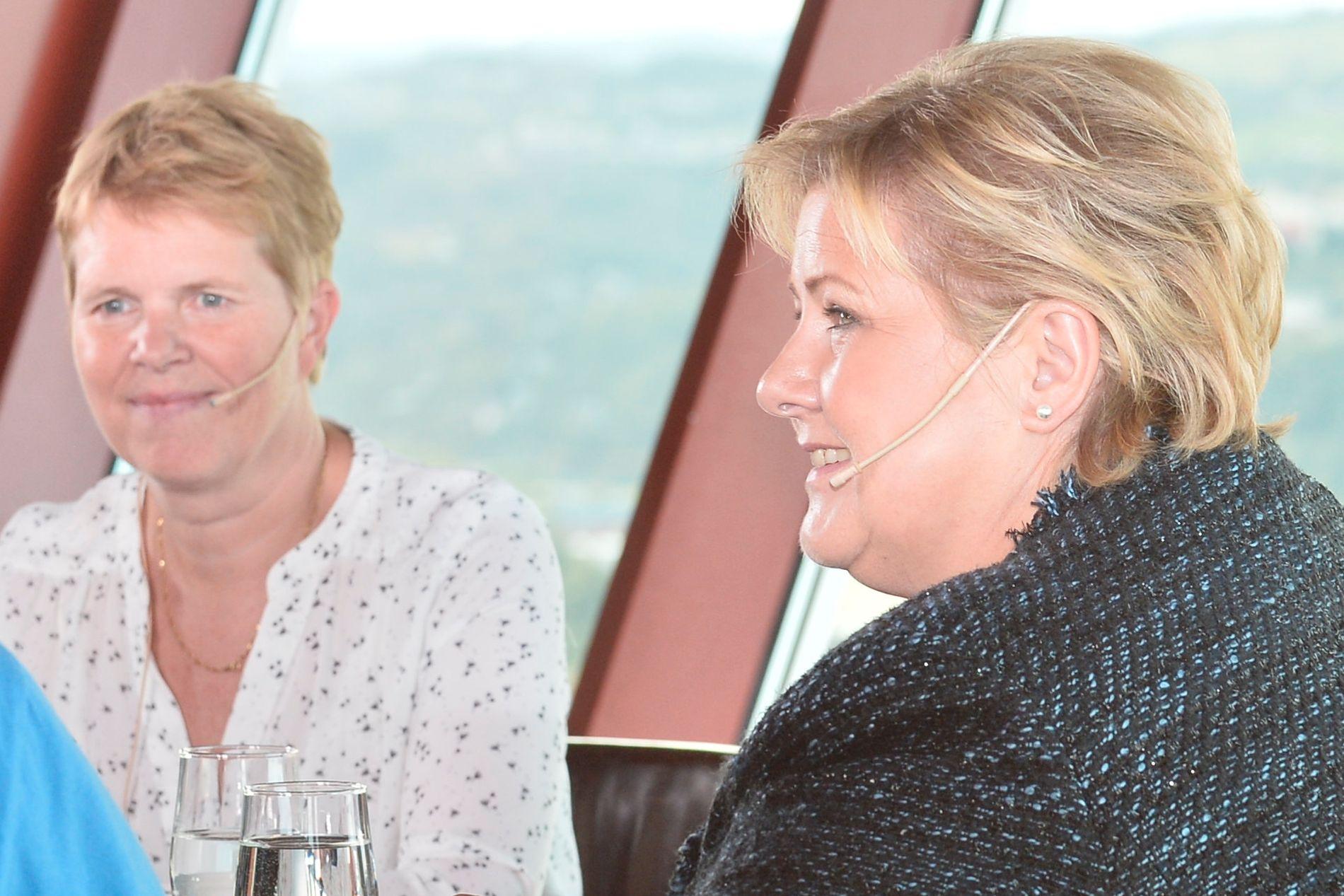 TRØNDERTOPP:  Høyres Ingrid Skjøtskift (t.v), ordførerkandidat i Trondheim, mener ikke Trøndelag er godt nok representert i Erna Solbergs nye regjering.
