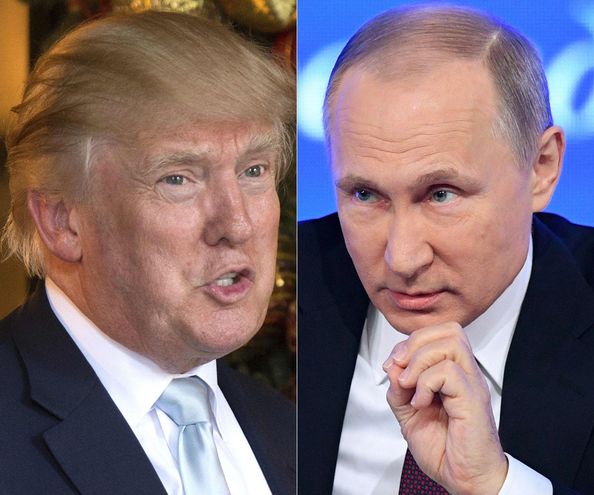 GODE BUSSER? Donald Trump og Vladimir Putin er begge to uberegnelige karer. Nå lurer russerne på om Trump skal innfri forventningene fra valgkampen om å bedre forholdet til Russland.