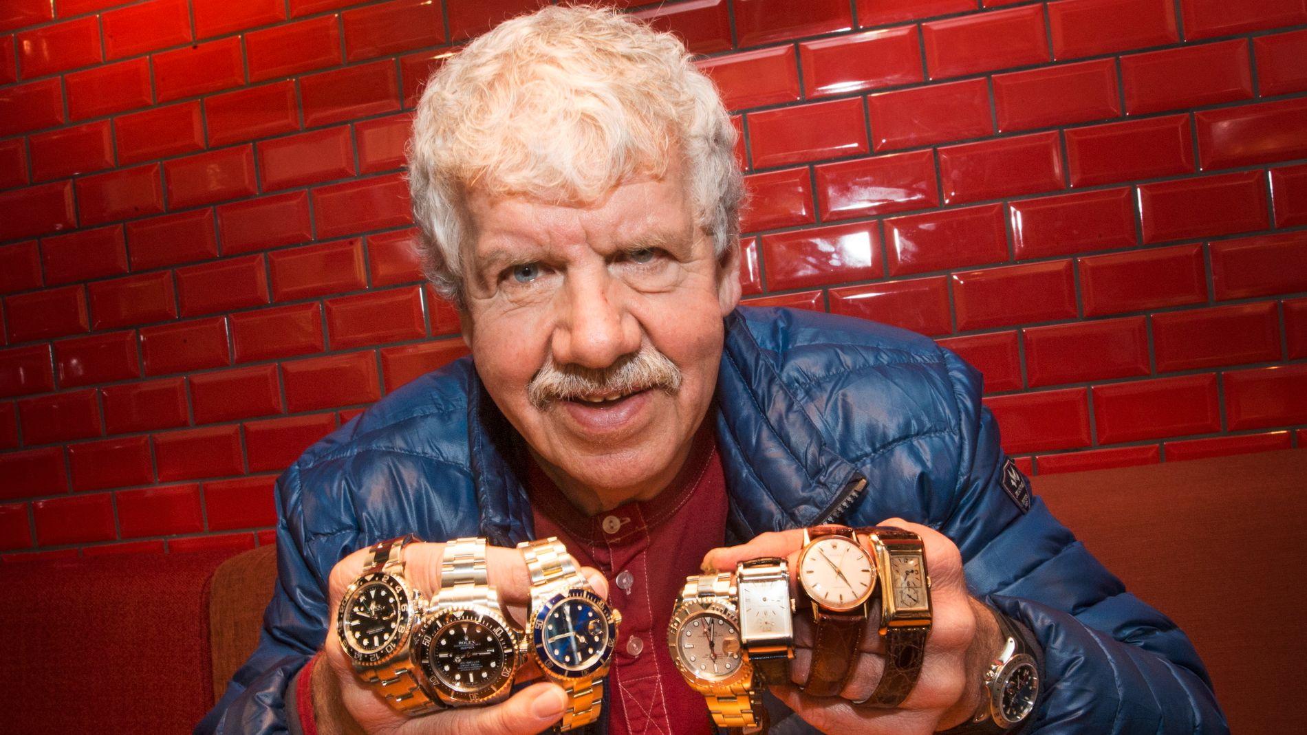 PRIVATFORHANDLER: Jonny «Rolex» Larsen har lenge solgt brukte ur. I all hovedsak selger han Rolex-klokker.