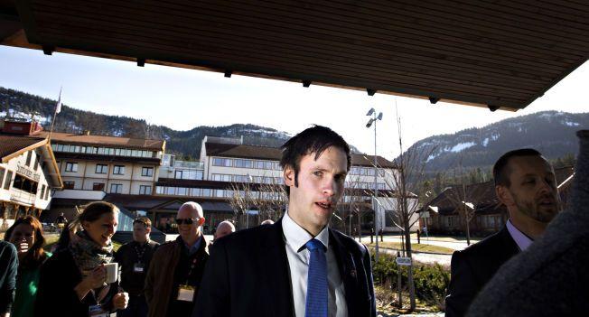 FASTHOLDER NEDERLAND: Statssekretær i Justisdepartementet, Vidar Brein-Karlsen (Frp) på Kriminalpolitisk Konferanse 2014 på Sundvolden Hotell, der soning i utlandet var tema.