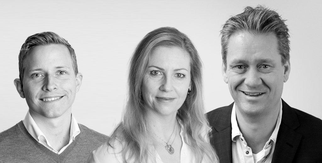 TEAMET: Fra venstre har du Øystein, Ingela og meg selv. I tillegg holder vi på å ansette en ny selger.