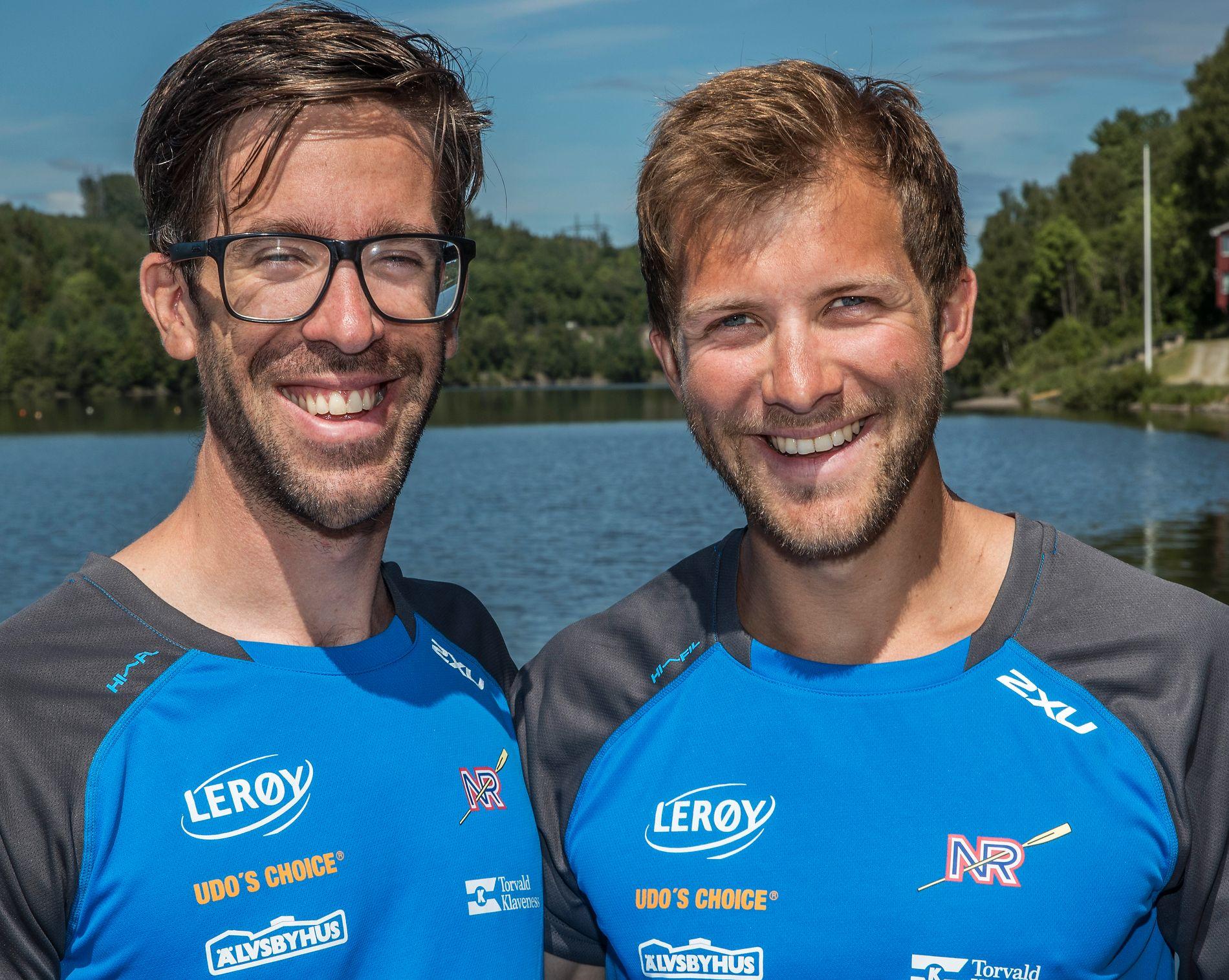 SUKSESSDUO: Are Strandli (til venstre) og Kristoffer Brun har ikke vært av seierspallen siden 9. plassen i London-OL for fire år siden.