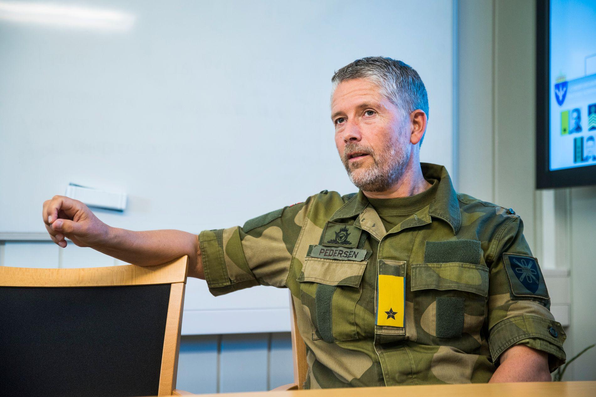 Nordmenn frykter cyberangrep mer enn terror. brigader Kurt Pedersen,i Cyberforsvaret. Jørstadmoen. Foto: FRODE HANSEN, VG