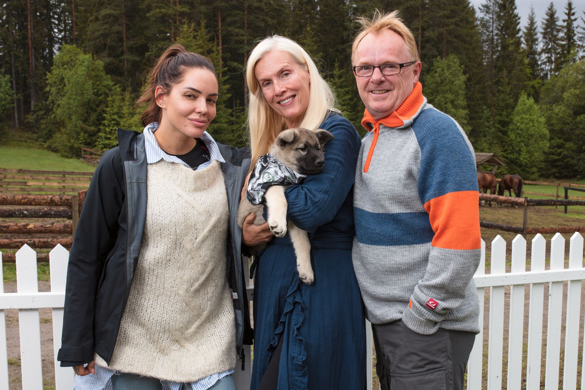 KAMPKLARE: Triana Iglesias, Gunilla Persson og Per Sandberg deltar alle i den fjerde utgaven av «Farmen kjendis».