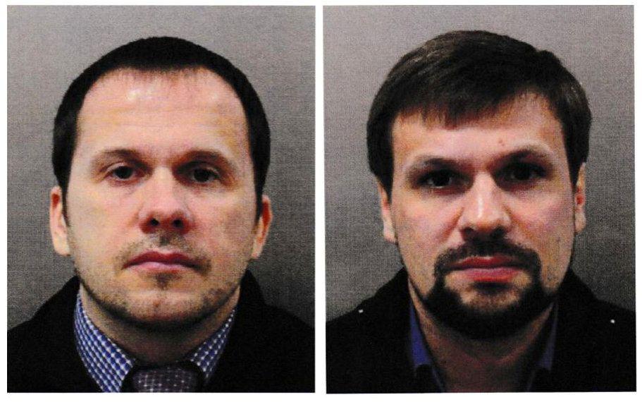 MISTENKTE: Britisk politi mener Aleksandr Petrov og Ruslan Bosjirov står bak drapsforsøket på Sergej Skripal og hans datter Julia.