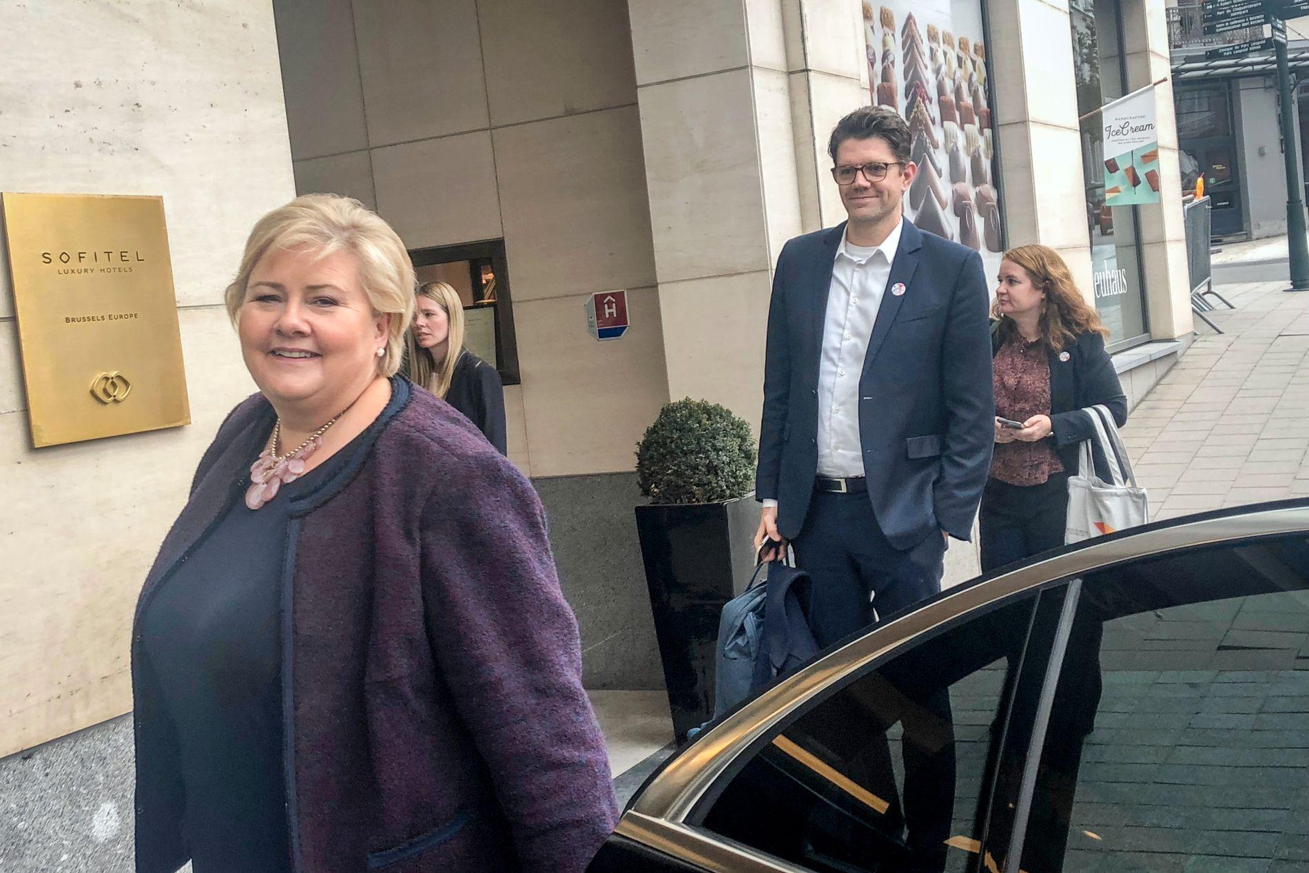KOMMER KRF I MØTE: VG møtte torsdag ettermiddag statsminister Erna Solberg (H) i Brussel.