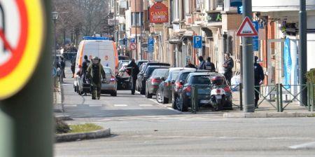 BOMBEGRUPPEN: Belgisk politi har satt inn store ressurser i aksjonen.