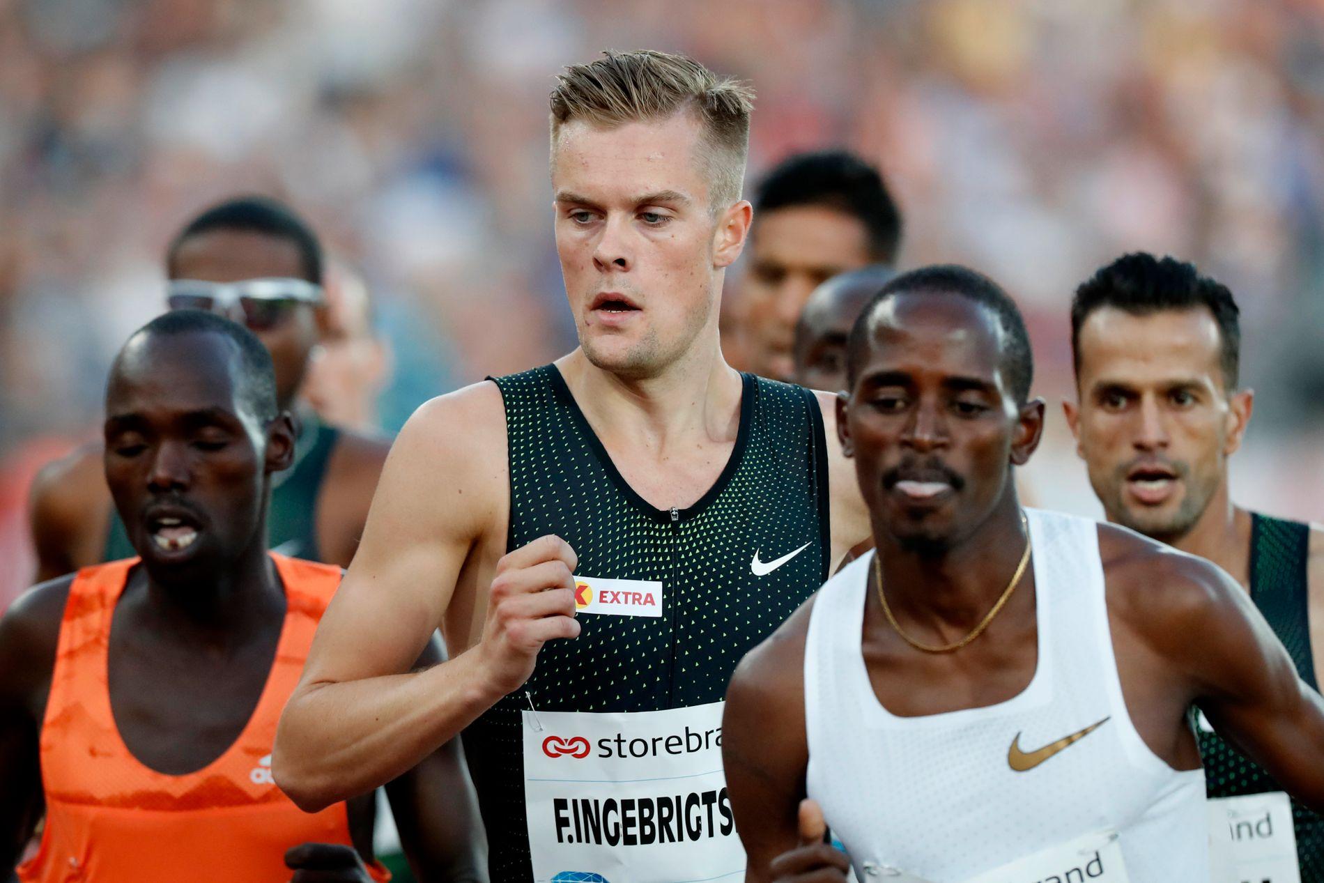 4. PLASS: Filip Ingebrigtsen (25) løp drømmemilen (1609 meter) på Bislett på 3.57,97 sist torsdag, før han ble nummer 12 på 5000-meteren i Stockholm søndag – åtte sekunder bak EM-kvalifiseringskravet.