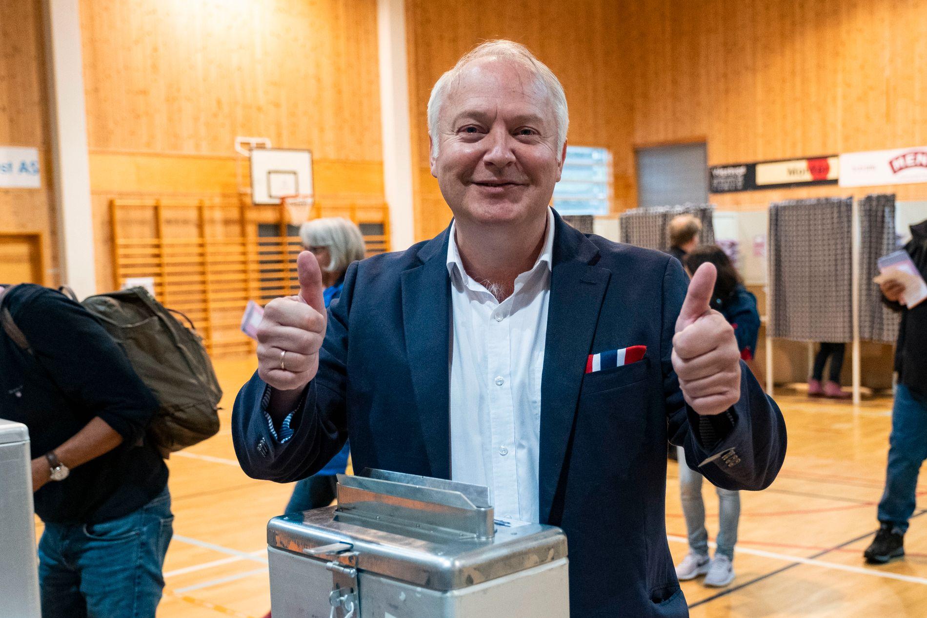 STORE: Demokratene, ledet an av ordførerkandidat Vidar Kleppe, er det tredje største partiet i Kristiansand, viser resultatene når 99,8 prosent av stemmene var telt opp. Foto: Tor-Erik Schrøder / NTB scanpix