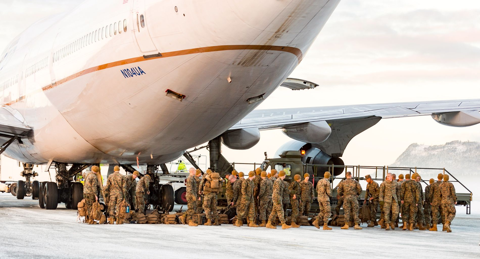 PÅ VÆRNES: i januar 2017 kom de første om lag 300 soldatene fra US Marine Corps til Norge for roterende trening. Marinestyrken ønsker nå å doble sitt nærvær i Norge.
