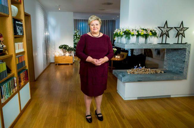 FOKUSERTE PÅ FLYKTNINGER: Erna Solberg fokuserte i stopr grad på flyktningkrisen i årets nyttårstale.