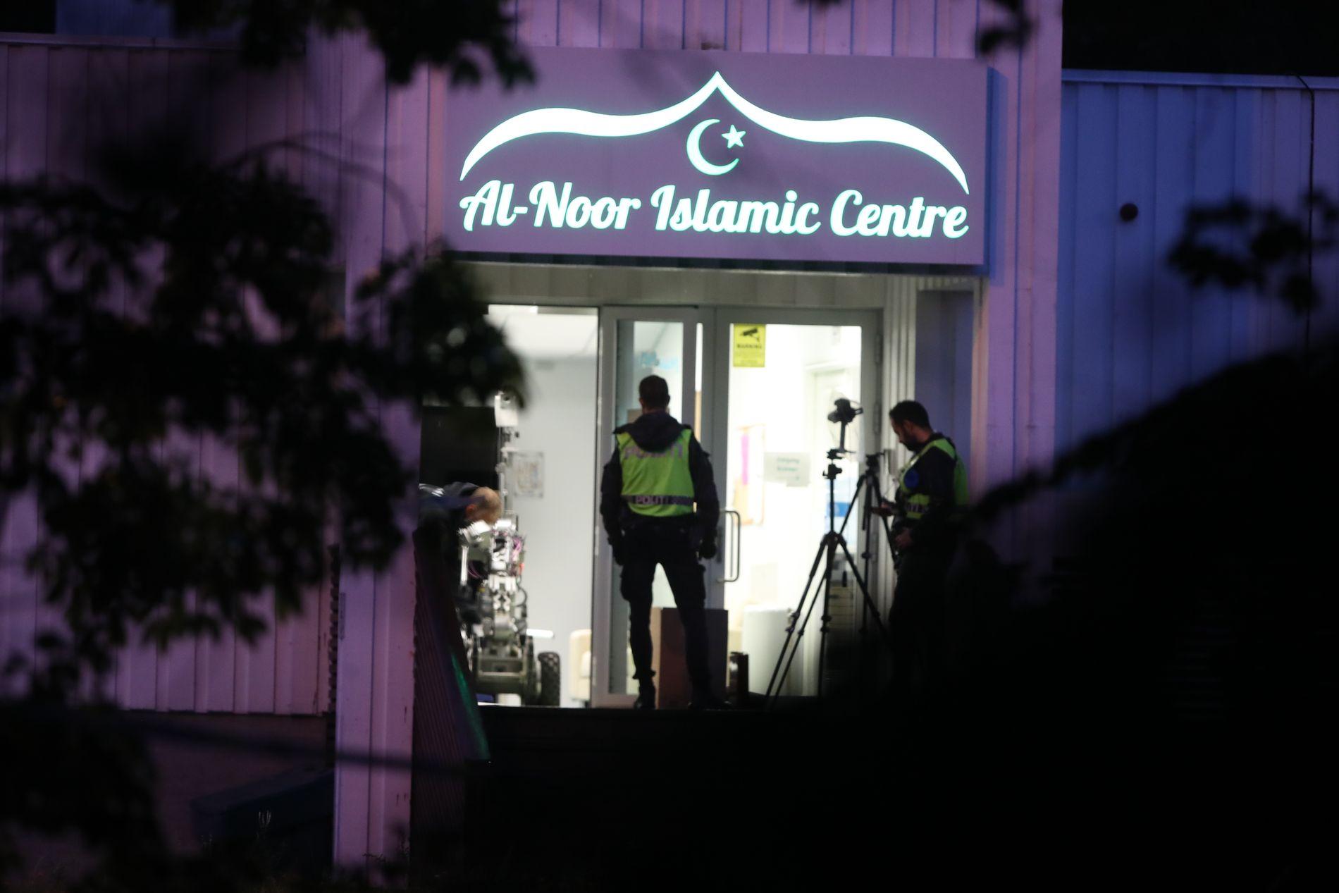 Skyteepisoden fant sted i al-Noor Islamic Center i Bærum lørdag.
